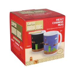 Super Mario ,,Super Mario Bros. Tasse mit Thermoeffekt Level,,