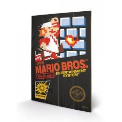 Super Mario Bros. ,,Holzdruck Nes Cover,, (40 x 60 cm)