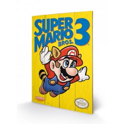 Super Mario Bros. 3 ,,Holzdruck Nes Cover,, (40 x 60 cm)