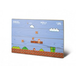 Super Mario Bros. Holzdruck ,,Level 1-1,, (40 x 60 cm)