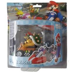 Mario Kart Wii ,,Mini Kart mit Rückziehfunktion Bowser,, (12 cm) Pull & Speed