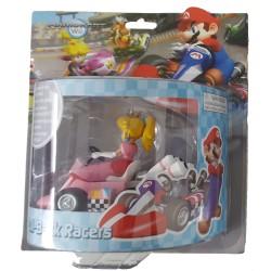 Mario Kart Wii ,,Mini Kart mit Rückziehfunktion Peach,, (12 cm) Pull & Speed