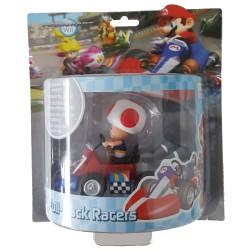 Mario Kart Wii ,,Mini Kart mit Rückziehfunktion Toad,, (12 cm) Pull & Speed