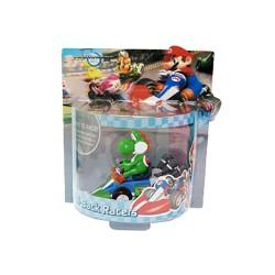 Mario Kart Wii ,,Mini Kart mit Rückziehfunktion Yoshi,, (12 cm) Pull & Speed
