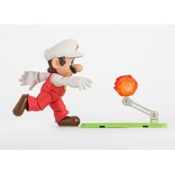 Super Mario Bros. ,,S.H. Figuarts Actionfigur,, Feuer Mario (10 cm)