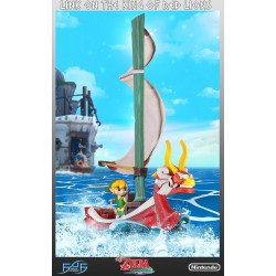 First 4 Figures ,,The Legend of Zelda The Wind Waker Statue Link on The King of Red Lions (64 cm),, Regular Edition